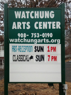 Watchung Arts Center sign, photo by Stacy Gannon